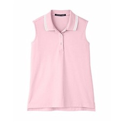 Devon & Jones | D&J Ladies'  Plaited Tipped Sleeveless Polo