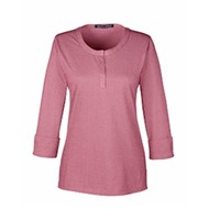 Devon & Jones | D&J Ladies' Central Cotton Blend Mélange Top