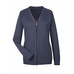 Devon & Jones | D&J Ladies' Manchester Full-Zip Sweater