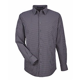 D&J CrownLux Performance Tonal Mini Check Shirt