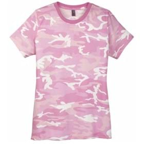 District Made LADIES' Perfect Weight Camo Crew Tee