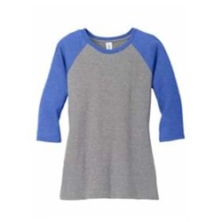 DISTRICT | District Made® Ladies Perfect Tri® 3/4-Slv Raglan