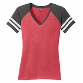 District Made® Ladies Game V-Neck Tee