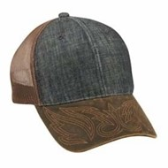 Outdoor Cap | Outdoor Cap Denim Front Weathered Cotton Visor Cap