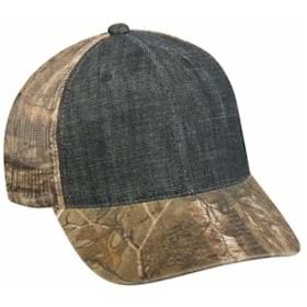 Outdoor Cap Denim Front with Camo Mesh Cap