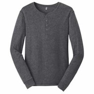DISTRICT | DISTRICT L/S Young Mens Gravel 50/50 Henley