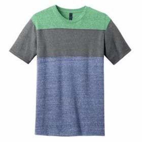 DISTRICT Young Mens Tri-Blend Pieced Crewneck Tee