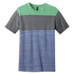 DISTRICT | DISTRICT Young Mens Tri-Blend Pieced Crewneck Tee