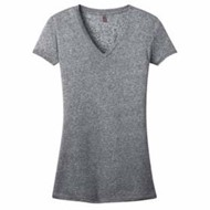 DISTRICT | DISTRICT JUNIORS Microburn V-Neck Cap Sleeve Tee