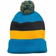 DISTRICT | District Vintage Striped Beanie w/ Removable Pom