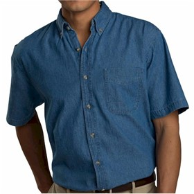 Edwards S/S Mid-Weight Denim Shirt