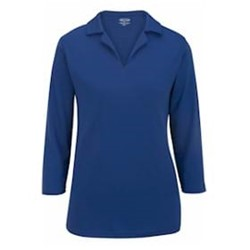 Edwards  | Ladies Performance Flat-Knit 3/4 Polo