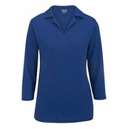 Edwards  | Edwards Ladies Performance Flat-Knit 3/4 Polo