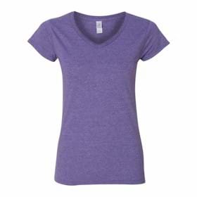 Gildan LADIES' Junior Fit V Neck T-Shirt