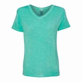 J America LADIES' Oasis Wash V-Neck Tee