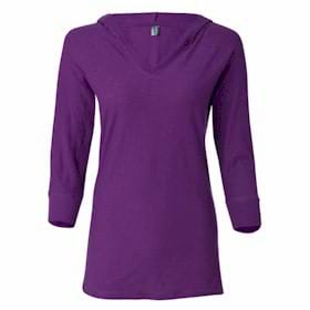 J America LADIES' 3/4 Sleeve Slub Tee