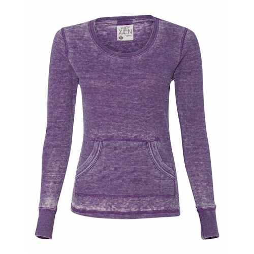 J America LADIES' L/S Zen Thermal T-Shirt