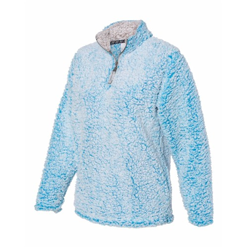J America LADIES' Epic Sherpa 1/4 Zip Pullover