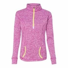 J America LADIES' Cosmic Fleece 1/4 Zip