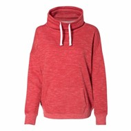 J America | J America LADIES' Melange Fleece Cowl Neck