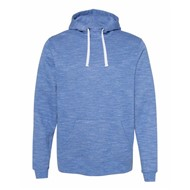 J America | J America Melange Fleece Hooded Sweatshirt