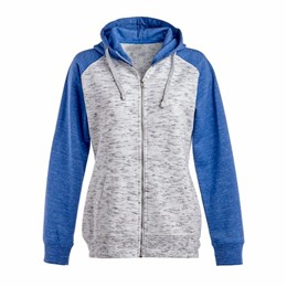 J America | J America LADIES' Melange Full Zip Sweatshirt