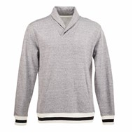 J America | J America Peppered Fleece Shawl Collar Pullover