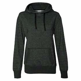 J America LADIES' Glitter French Terry Hood