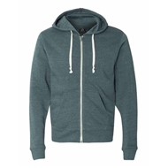 J America | Tri-Blend Full Zip Fleece Hood