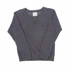 J America LADIES' Tri-Blend Fleece Crew