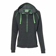J America | J America LADIES' 1/2 Zip Hooded Sweatshirt