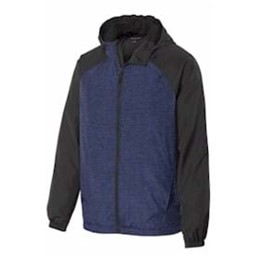 Sport-tek | Sport-Tek Heather Raglan Hooded Wind Jacket