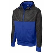 Sport-tek | Sport-Tek Embossed  Hybrid Full Zip Hooded Jacket