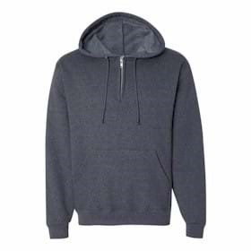 JERZEES Nublend Quarter Zip Hooded Sweatshirt