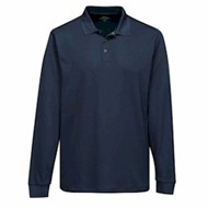 Tri-Mountain | Tri-Mountain L/S Vital Snap Mini-Pique Polo