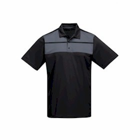 Tri-Mountain Streak Mini-Pique Polo