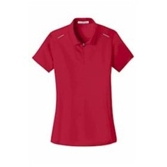 Port Authority | ® Ladies Pinpoint Mesh Zip Polo