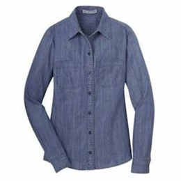 Port Authority | Port Authority LADIES' Patch Pockets Denim Shirt