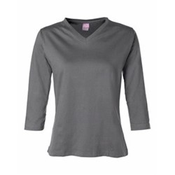 LAT Sportswear | LAT LADIES' Ringspun V-Neck 3/4 Sleeve T-Shirt