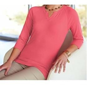 Tri Mountain LADIES' Sofia Split Neck Shirt