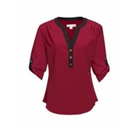 Tri-Mountain | Tri Mountain LADIES' Amelia 3/4 Sleeve Shirt