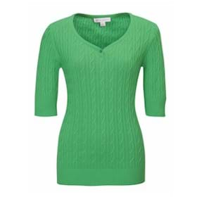 Tri-Mountain LADIES' Layla Short Sleeve Sweater