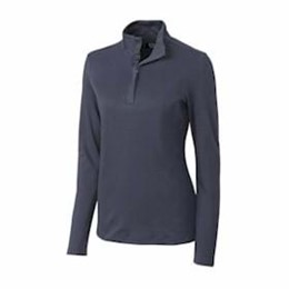 Cutter & Buck | Cutter & Buck LADIES' L/S Belfair Pima Half Zip