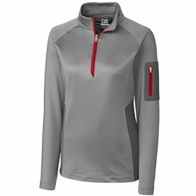 Cutter & Buck LADIES' Shaw Hybrid 1/2 Zip Pullover