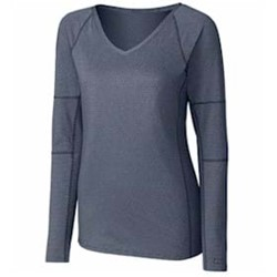 Cutter & Buck | Cutter & Buck LADIES' L/S Victory V-Neck Shirt
