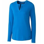 Cutter & Buck | Cutter & Buck LADIES' L/S Avail Double V-Neck
