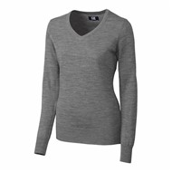 Cutter & Buck | Cutter & Buck LADIES' L/S Douglas V-Neck Sweater