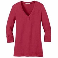 Port Authority | Port Authority LADIES' 3/4-Sleeve Scoop Henley