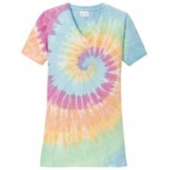 Port Authority | Port & Company® Ladies Tie-Dye V-Neck Tee