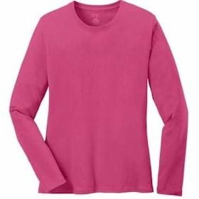 Port & Company L/S LADIES' 100% Cotton T-Shirt